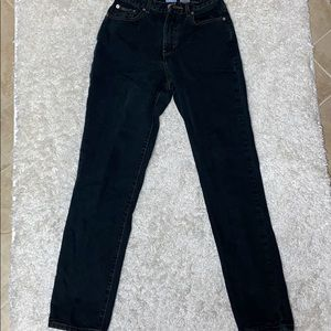 """GUC CK JEANS high rise 90's BLACK """"Mom"""" Jeans"""
